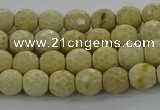 CRI211 15.5 inches 6mm faceted round riverstone beads wholesale