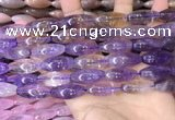 CRI301 15.5 inches 10*25mm rice ametrine gemstone beads wholesale