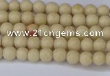 CRJ600 15.5 inches 4mm round white fossil jasper beads wholesale