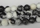 CRO100 15.5 inches 8mm round black & white jasper beads wholesale