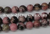 CRO121 15.5 inches 8mm round rhodonite gemstone beads wholesale