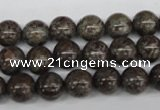 CRO139 15.5 inches 8mm round Chinese snowflake obsidian beads wholesale