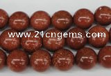 CRO228 15.5 inches 10mm round goldstone beads wholesale