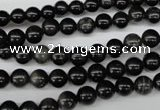 CRO32 15.5 inches 6mm round black obsidian gemstone beads wholesale
