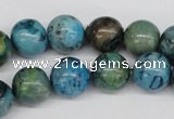 CRO355 15.5 inches 12mm round dyed feldspar beads wholesale