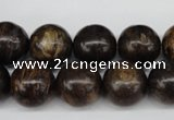 CRO387 15.5 inches 14mm round bronzite gemstone beads wholesale