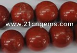 CRO483 15.5 inches 18mm round red jasper beads wholesale