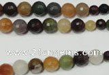 CRO723 15.5 inches 6mm – 14mm faceted round mixed candy jade beads