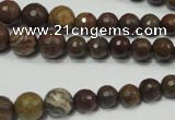 CRO735 15.5 inches 6mm – 14mm faceted round stripe jasper beads