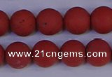CRO944 15.5 inches 12mm round matte red jasper beads wholesale