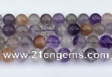 CRU1014 15.5 inches 10mm round mixed rutilated quartz beads