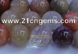 CRU753 15.5 inches 10mm round Multicolor rutilated quartz beads