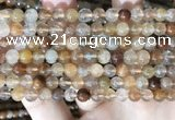 CRU944 15.5 inches 6mm round mixed rutilated quartz beads