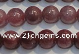 CRZ1002 15.5 inches 6mm - 6.5mm round A grade natural ruby beads