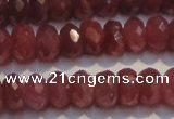 CRZ1027 15.5 inches 5*7mm faceted rondelle AA grade ruby beads