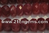 CRZ1030 15.5 inches 4*6mm faceted rondelle AAA grade ruby beads