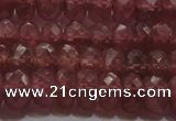 CRZ1102 15.5 inches 4*6mm faceted rondelle AAA+ grade ruby beads