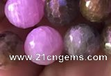 CRZ1133 15.5 inches 10mm faceted round ruby sapphire beads