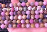 CRZ1143 15.5 inches 8mm faceted round ruby sapphire beads