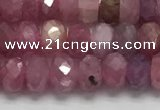 CRZ1150 15.5 inches 3*5mm faceted rondelle natural ruby beads