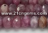 CRZ1152 15.5 inches 4*6.8mm faceted rondelle natural ruby beads