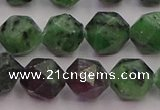 CRZ764 15.5 inches 12mm faceted nuggets ruby zoisite gemstone beads