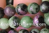 CRZ771 15.5 inches 6mm round ruby zoisite beads wholesale