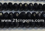CRZ980 15.5 inches 4*6mm faceted rondelle A+ grade sapphire beads