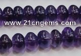 CSA09 15.5 inches 8*12mm rondelle synthetic amethyst beads wholesale