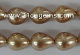 CSB109 15.5 inches 11*15mm teardrop shell pearl beads wholesale