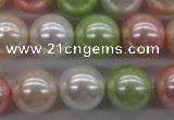 CSB1136 15.5 inches 14mm round mixed color shell pearl beads