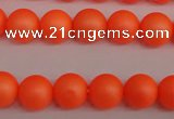 CSB1310 15.5 inches 4mm matte round shell pearl beads wholesale
