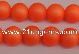 CSB1311 15.5 inches 6mm matte round shell pearl beads wholesale