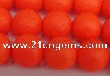 CSB1340 15.5 inches 4mm matte round shell pearl beads wholesale