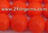 CSB1342 15.5 inches 8mm matte round shell pearl beads wholesale