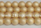 CSB1376 15.5 inches 6mm matte round shell pearl beads wholesale