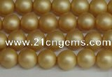 CSB1381 15.5 inches 6mm matte round shell pearl beads wholesale