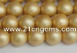 CSB1383 15.5 inches 10mm matte round shell pearl beads wholesale