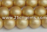 CSB1384 15.5 inches 12mm matte round shell pearl beads wholesale