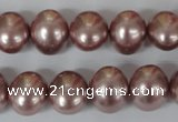 CSB139 15.5 inches 12*15mm – 13*16mm oval shell pearl beads