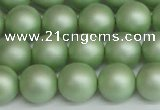 CSB1393 15.5 inches 10mm matte round shell pearl beads wholesale