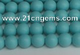CSB1406 15.5 inches 6mm matte round shell pearl beads wholesale