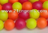 CSB1429 15.5 inches 12mm matte round shell pearl beads wholesale