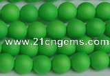 CSB1431 15.5 inches 6mm matte round shell pearl beads wholesale