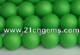 CSB1433 15.5 inches 10mm matte round shell pearl beads wholesale