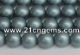 CSB1436 15.5 inches 6mm matte round shell pearl beads wholesale