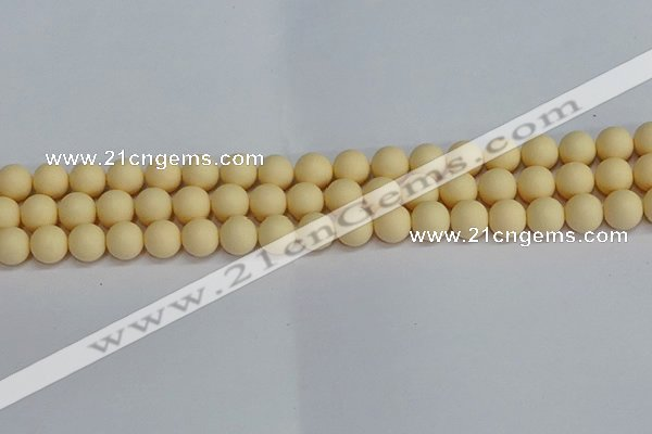 CSB1612 15.5 inches 8mm round matte shell pearl beads wholesale