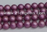 CSB1630 15.5 inches 4mm round matte shell pearl beads wholesale