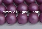CSB1634 15.5 inches 12mm round matte shell pearl beads wholesale