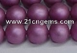 CSB1635 15.5 inches 14mm round matte shell pearl beads wholesale